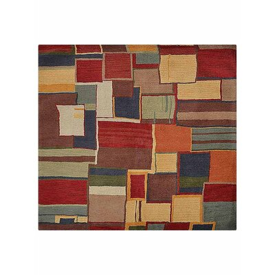 Tullos Carpet Hand-Tufted Wool Red/Yellow Area Rug