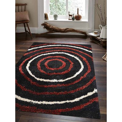 Jefferson Place Handmade Shag Black Area Rug Rug Size: Rectangle�9 x 12