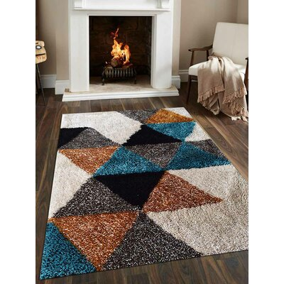 Beirut Abstract Hand-Woven Black/Brown Area Rug Rug Size: Rectangle�5 x 8