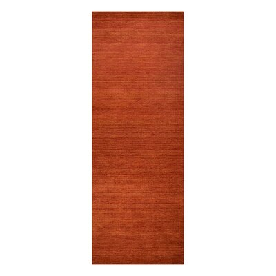 Ry Hand-Woven Wool Light Red Area Rug Rug Size: Runner�28 x 10