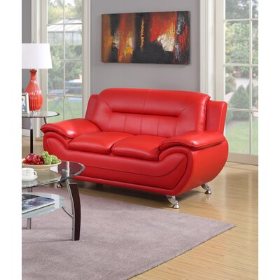 Hawking Loveseat Upholstery: Red