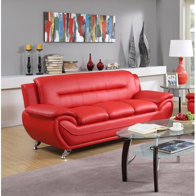 Hawking Sofa Upholstery: Red