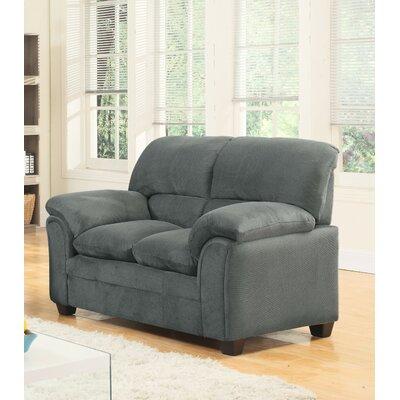 Mikaela Chenille Loveseat Upholstery: Hazel