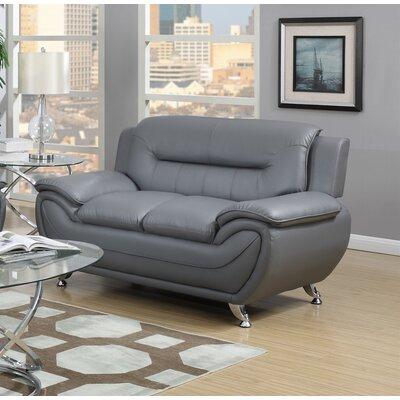 Hawking Loveseat Upholstery: Gray
