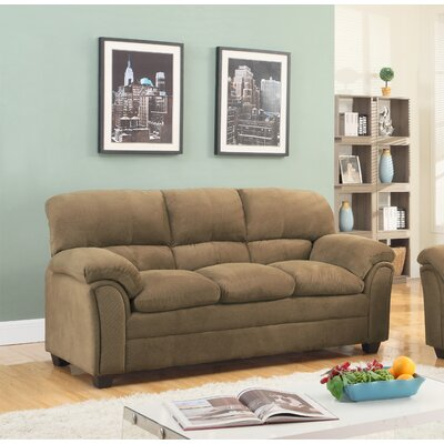 Mikaela Chenille Sofa Upholstery: Tan