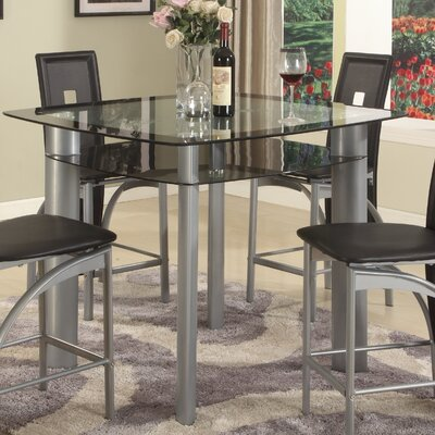 Metro Counter Height Dining Table Top Finish: Black