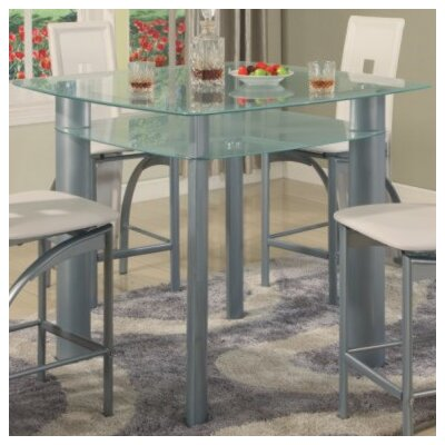 Metro Counter Height Dining Table Top Finish: Frosted