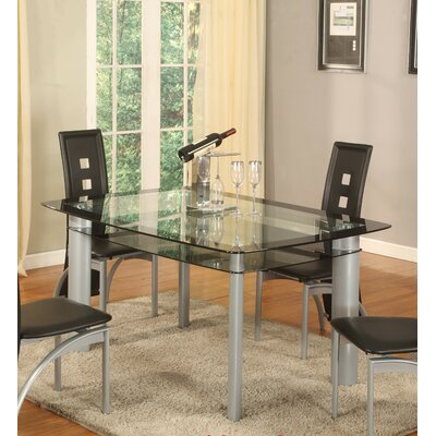 Metro Dining Table Top Finish: Black