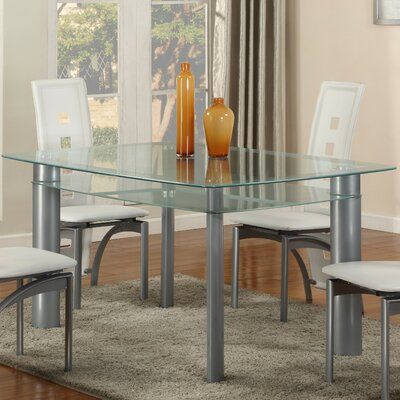 Metro Dining Table Top Finish: Frosted