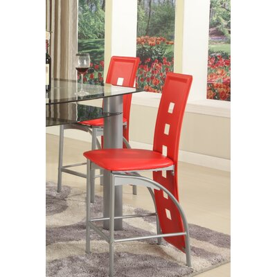 Metro Side Chair Upholstery: Red