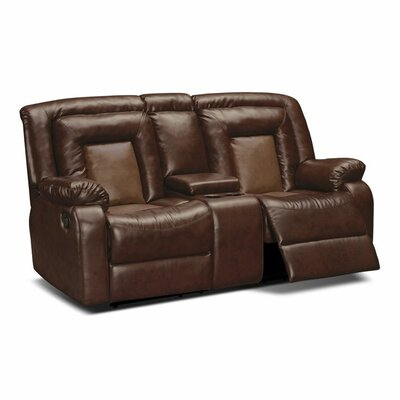 Alice Reclining Loveseat Upholstery: Brown
