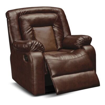 Alice Manual Rocker Recliner Upholstery: Brown