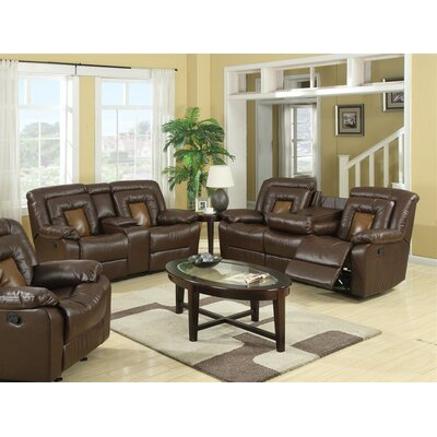 Alice 2 Piece Living Room Set Upholstery: Brown