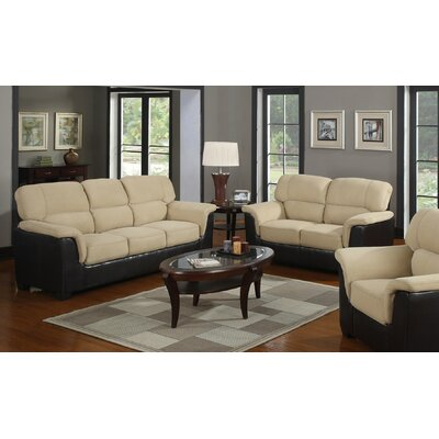 Margo 2 Piece Living Room Set Upholstery: Mushroom