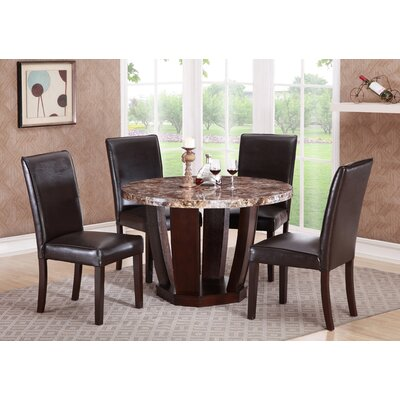 Lonie Faux Mable Dining Table