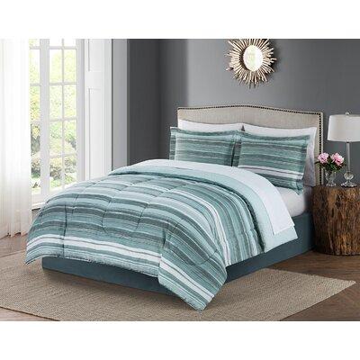 Bruno 8 Piece Reversible Comforter Set Size: Queen