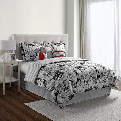 Mademoiselle 7 Piece Comforter Set Size: Queen