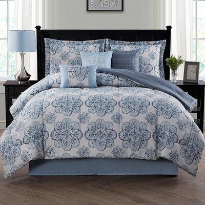 Nastia 7 Piece Reversible Comforter Set Size: Queen