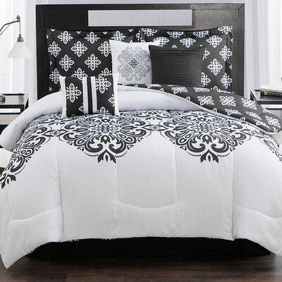 Aly 7 Piece Comforter Set Size: King