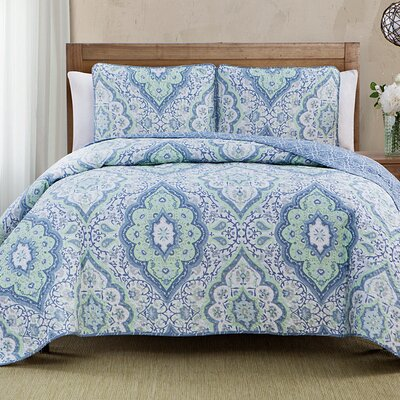 Diane 3 Piece Reversible Quilt Set Size: Full/Queen