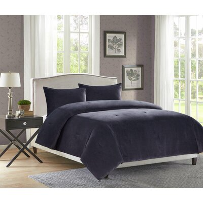 Carrillo 3 Piece Comforter Set Size: King, Color: Charcoal
