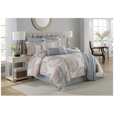 Bakewell 10 Piece Cotton Comforter Set Size: Queen
