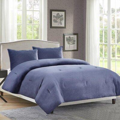 Rennick 3 Piece Comforter Set Size: Queen, Color: Blue