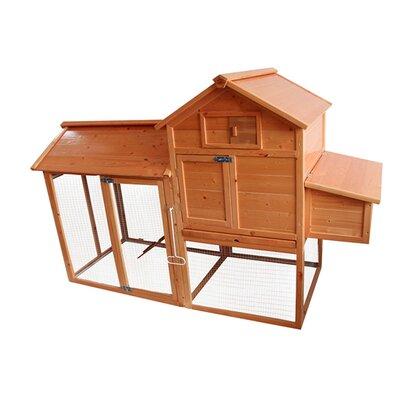 Deluxe Wooden Chicken Coop