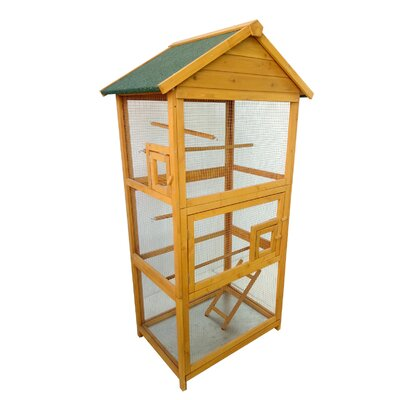Wood Bird Cage Color: Natural
