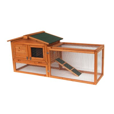 62 Coop Rabbit Hutch Wood Chicken Tractor for Small Animals