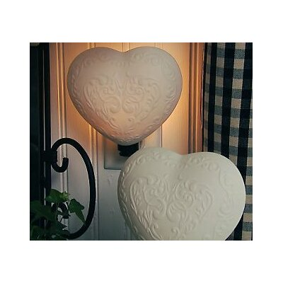 Ceramic Heart 1-Light Wall Light