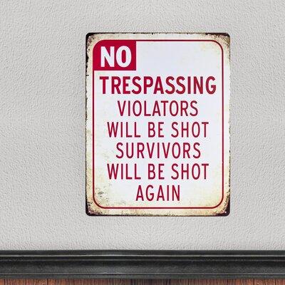 No Trespassing Vintage Metal Sign