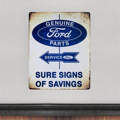 Vintage Ford Metal Sign for Man Cave Bar Garage