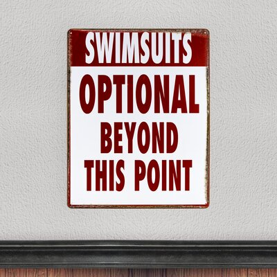 Swimsuits Optional Vintage Metal Sign