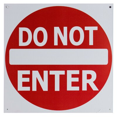 Do Not Enter Metal Traffic Sign