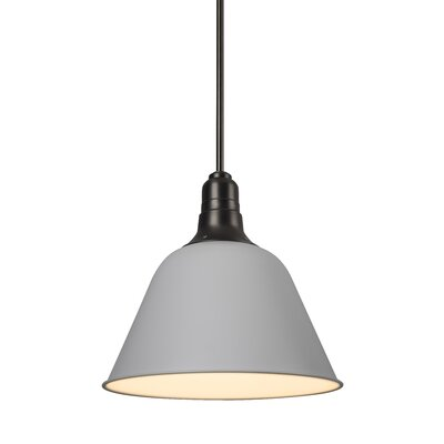 Amanda 1-Light Mini Pendant Shade Color: White, Size: Small