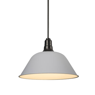 Amanda 1-Light Mini Pendant Shade Color: White, Size: Large