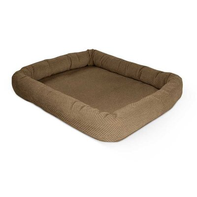 Perfect Bolster Color: Light Brown, Size: 21 W x 31 D x 4 H