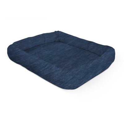 Perfect Bolster Color: Denim, Size: 19 W x 24 D x 4 H