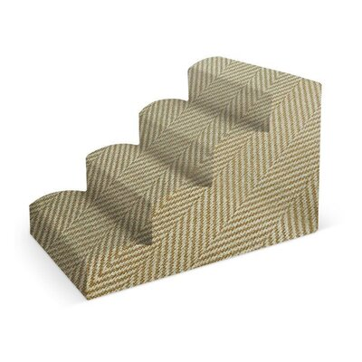 Fabric Pet Stair Color: Ivory