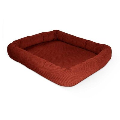 Perfect Bolster Color: Red, Size: 15 W x 20 D x 4 H