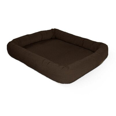Perfect Bolster Color: Dark Brown, Size: 15 W x 20 D x 4 H