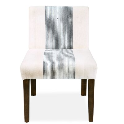 Darby Upholstered Dining Chair Upholstery: Navy Pinstripe
