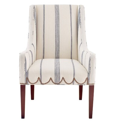 Chelsea Armchair Upholstery: Natural/Navy