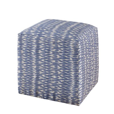 Chelsea Cube Ottoman Upholstery: Blue