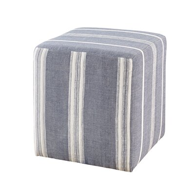 Chelsea Cube Ottoman Upholstery: Navy