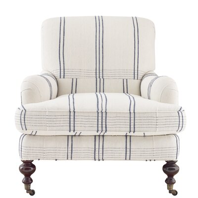 Chatsworth Club Chair Upholstery: Natural/Navy