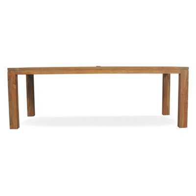 Parsons Umbrella Dining Table Size: 30 L x 86.75 W