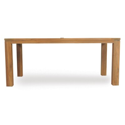 Parsons Umbrella Dining Table Size: 30 L x 71 W