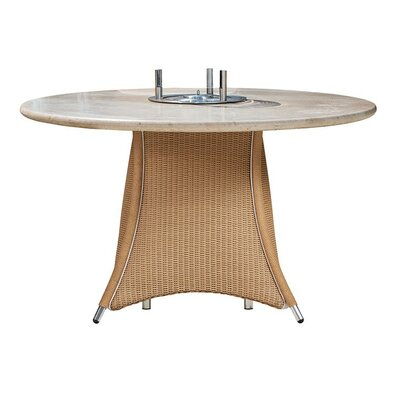 Fire Wicker Rattan Dining Table - Product photo